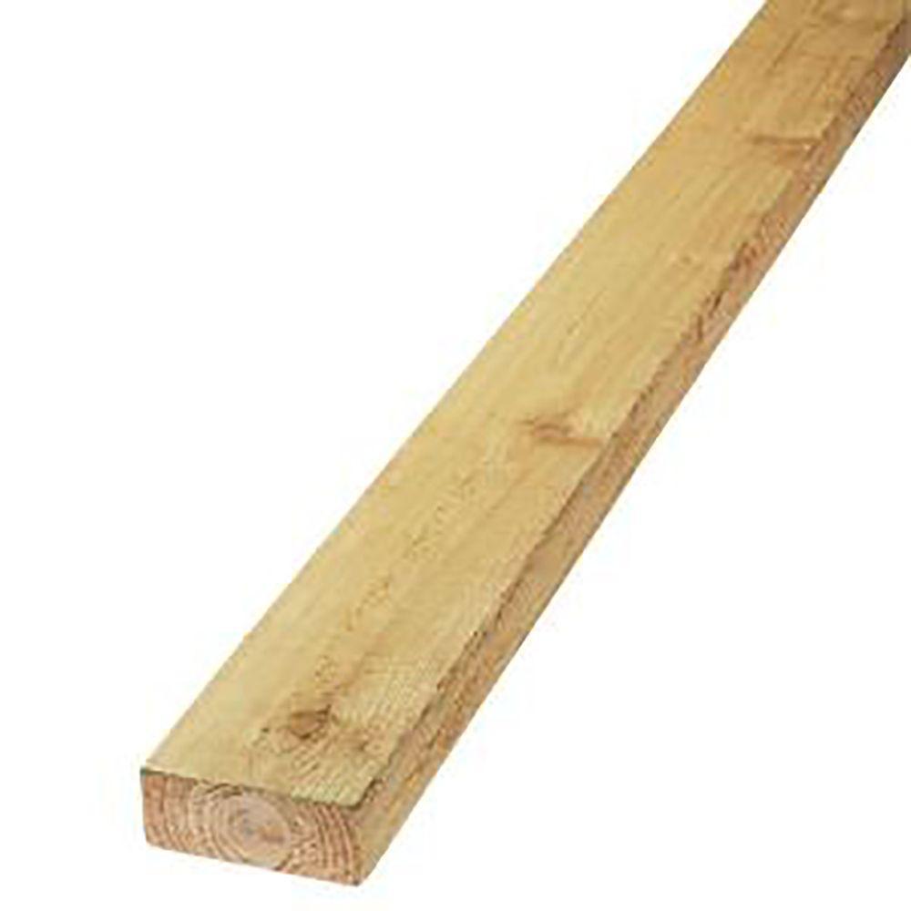 2 in  x 4 in  x 12 ft  Rough Green Western Red Cedar Lumber