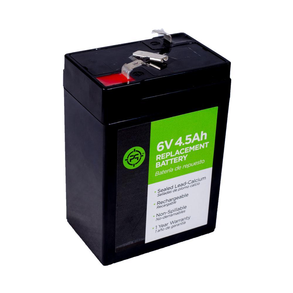Lead Acid 6-Volt 4.5 Ah Black Replacement Battery