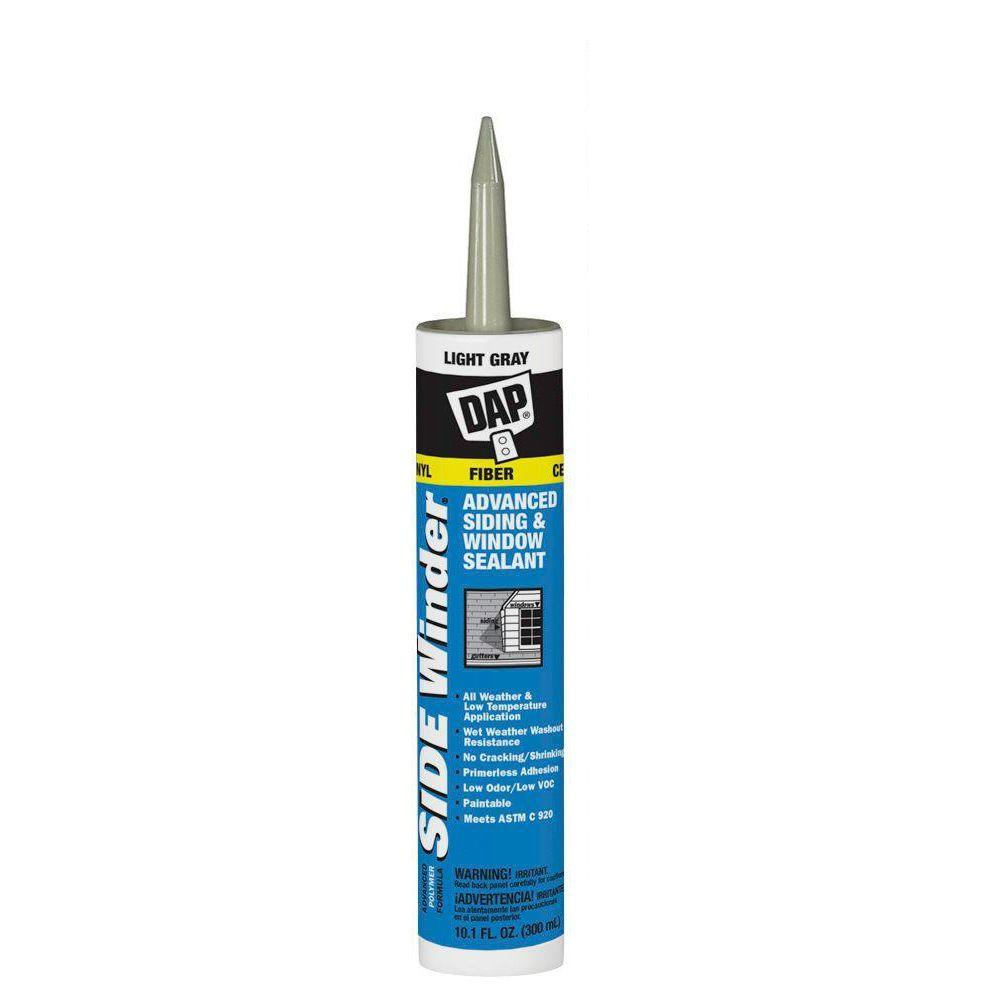 Grey Kitchen And Bath Caulk: DAP Sidewinder 10.1 Oz. Light Gray Advanced Polymer Siding