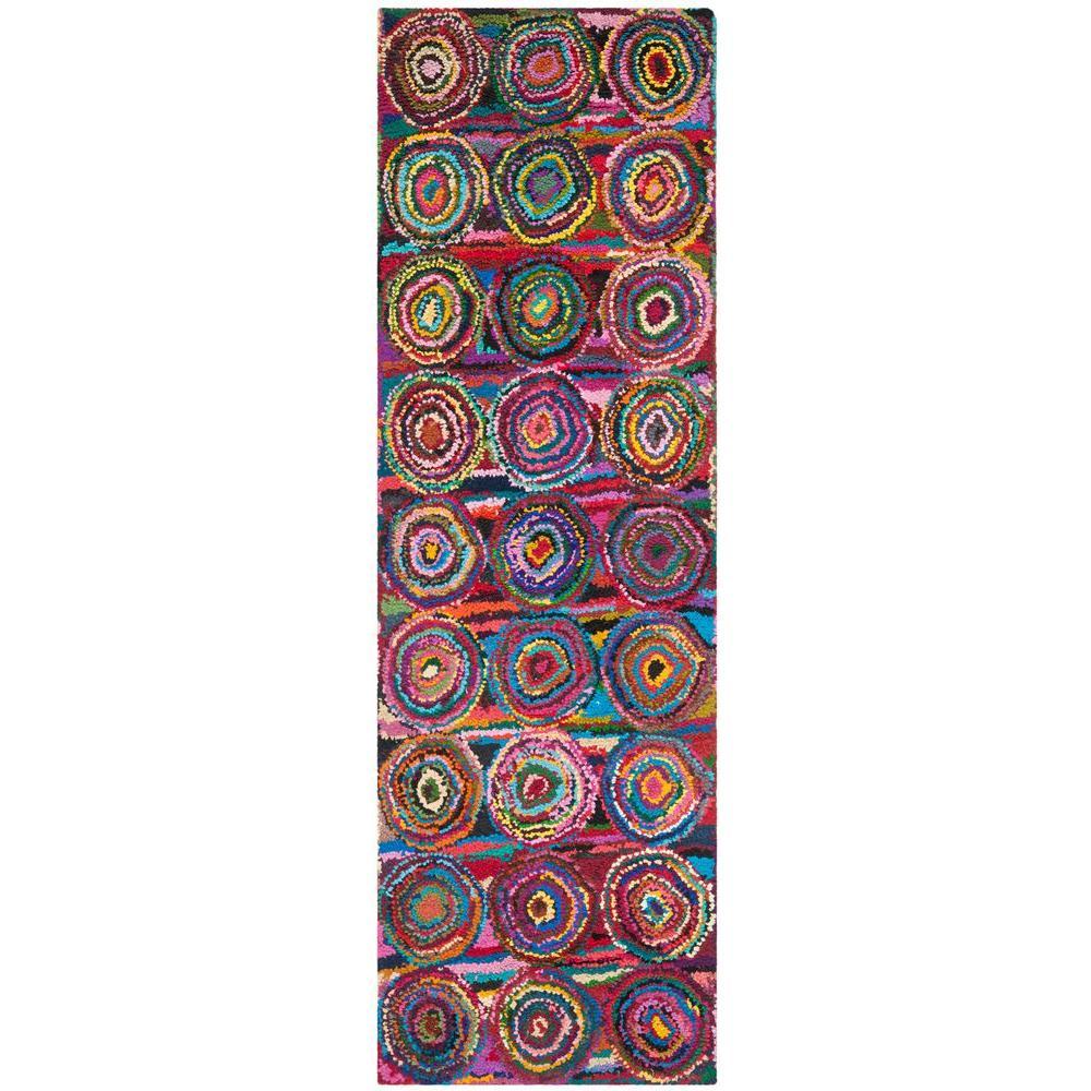Nantucket Pink/Multi 2 ft. x 10 ft. Runner Rug