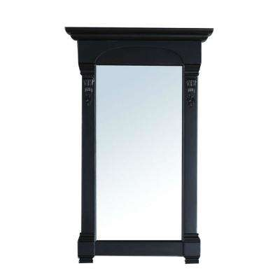 Brookfield 26 in. W x 42 in. H Framed Wall Mirror in Antique Black