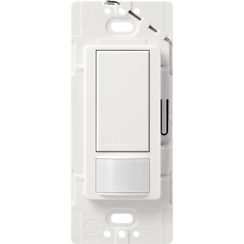 Lutron Maestro 5 Amp Vacancy Sensor Switch, , Single-Pole or Multi-Location, on