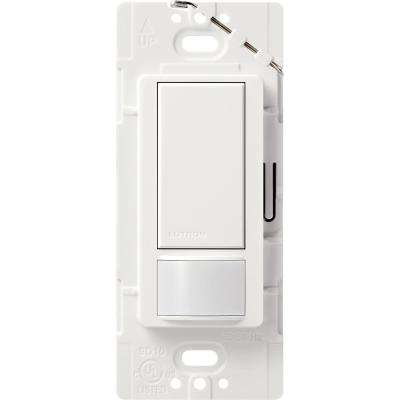 Maestro 5 Amp Vacancy Sensor Switch, , Single-Pole or Multi-Location, White