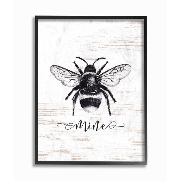 The Stupell Home Decor Collection 11 In X 14 Bee Mine Drawing