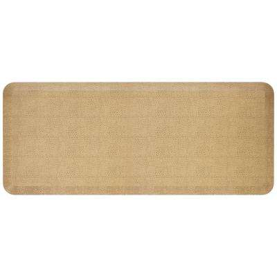 Designer Pebble Wheat 20 in. x 48 in. Anti-Fatigue Comfort Kitchen Mat