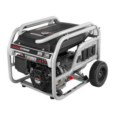 6,000 Running Watt Gasoline Powered Portable Generator