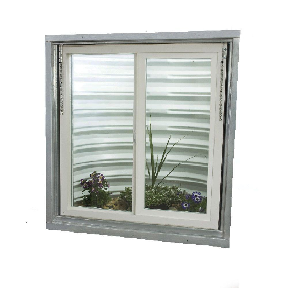 TAFCO WINDOWS 30.75 in. x 36.375 in. Egress Left-Hand Sliding Vinyl ...
