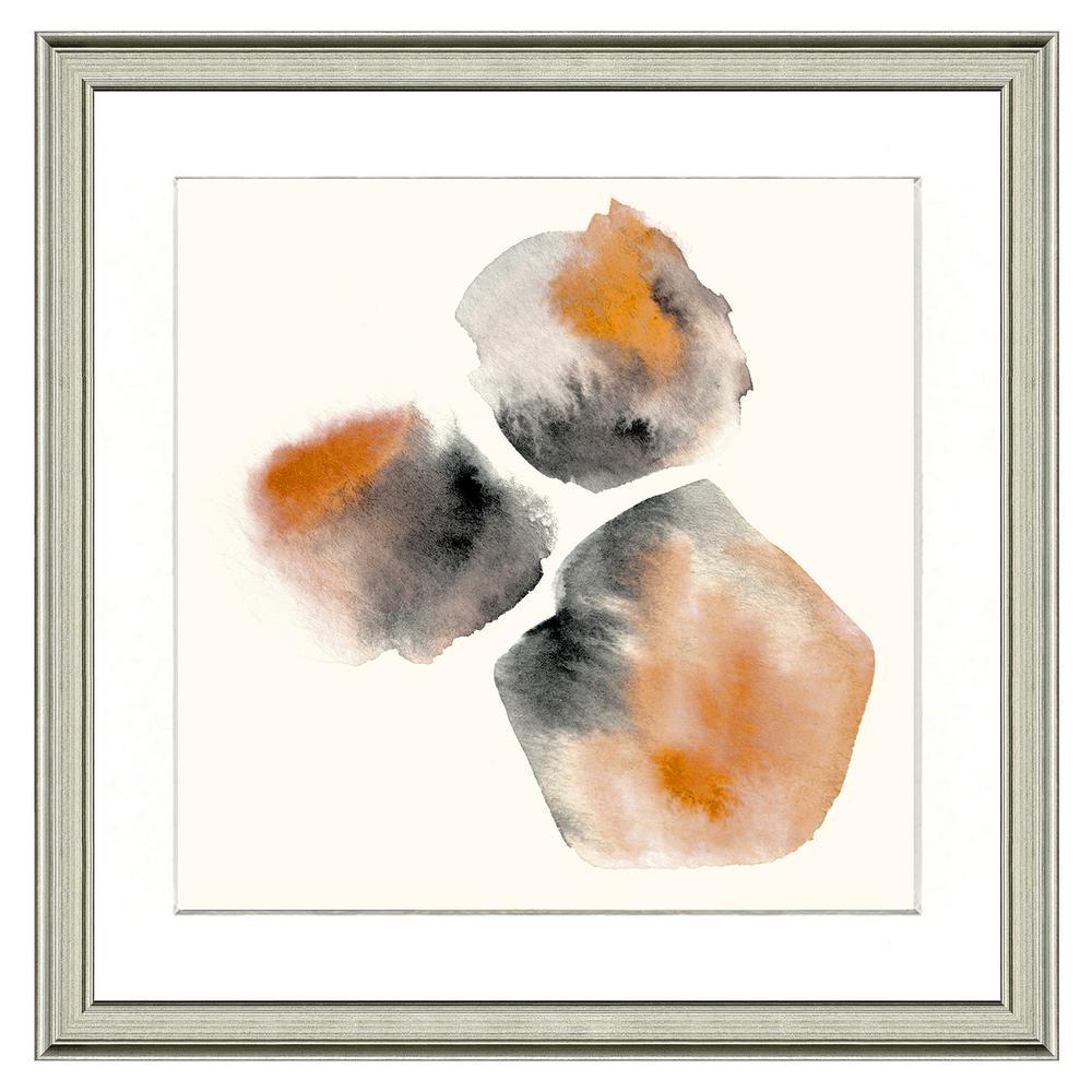 "26 in. x 26 in. Full Size ""Orange gems"" Framed Archival Paper Wall Art"