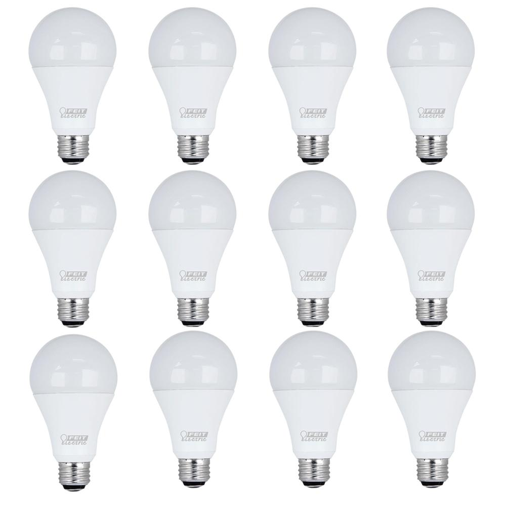 feit electric 50 100 150w equivalent daylight 5000k a21 led 3 way light bulb case of 12 a50. Black Bedroom Furniture Sets. Home Design Ideas