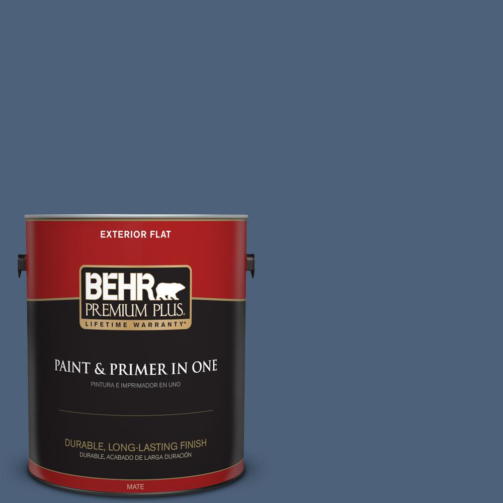 BEHR Premium Plus 1-gal. #PMD-64 Evening Symphony Flat Exterior Paint