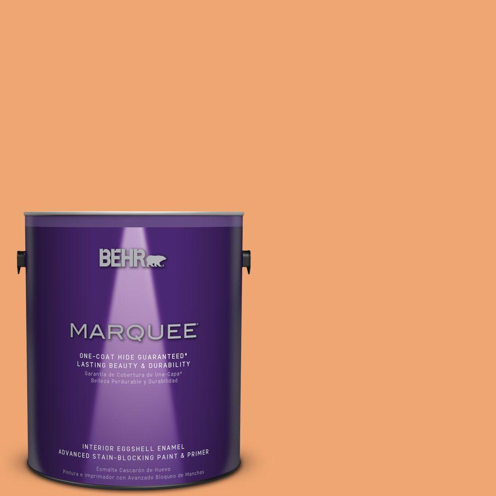 1 gal. #HDC-SP16-04 Apricot Jam Eggshell Enamel Interior Paint