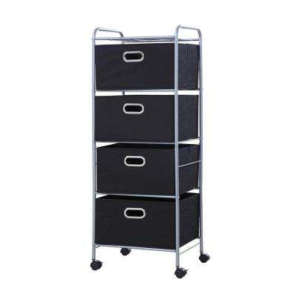 4 Drawer Cart in Black