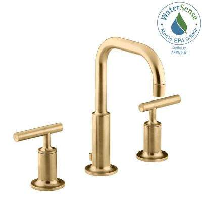 gold bathroom faucet. Widespread 2-Handle Mid-Arc Water-Saving Bathroom Faucet Gold R