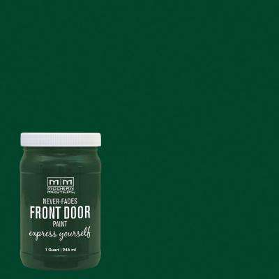 Express Yourself 1 qt. Satin Natural Green Water-Based Front Door Paint