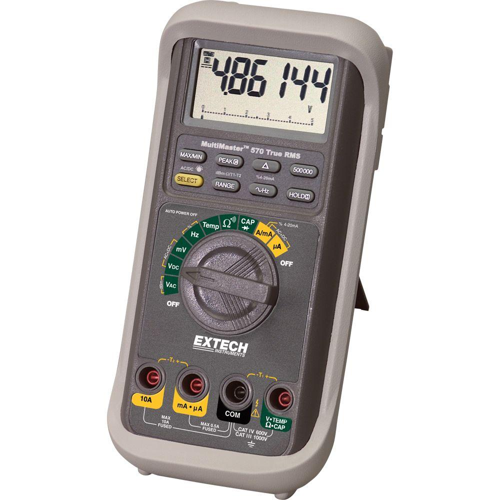Home Depot Multimeter : Extech instruments multimaster high accuracy multimeter