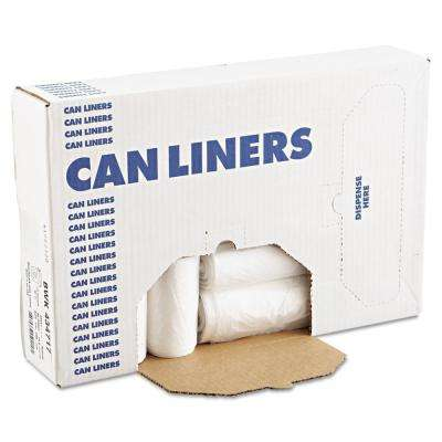 56 Gal. Natural High-Density Can Liner (25 Bags/Roll, 8-Rolls/Carton)