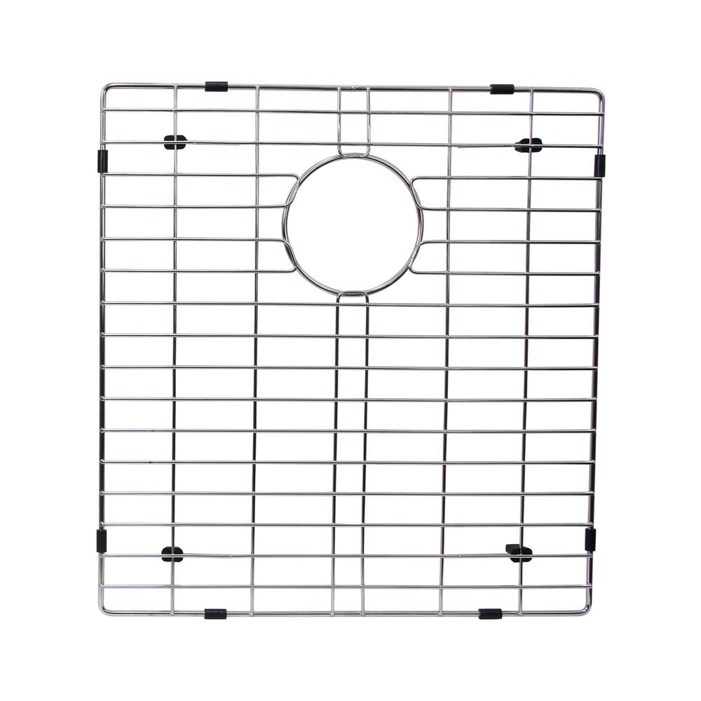 17.8 in. x 16.5 in. Kitchen Sink Bottom Grid in Stainless