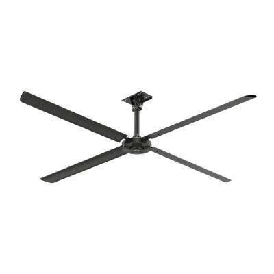XP 12 ft. 110-Volt Single Phase HVLS Indoor Anodized Black Ceiling Fan with Wall Control