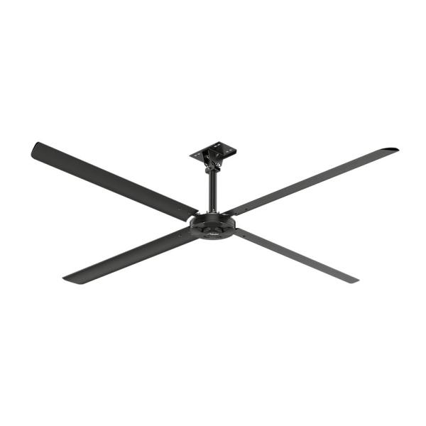 XP 12 ft. 110-Volt Single Phase HVLS Indoor Anodized Black Shop Ceiling Fan with Wall Control