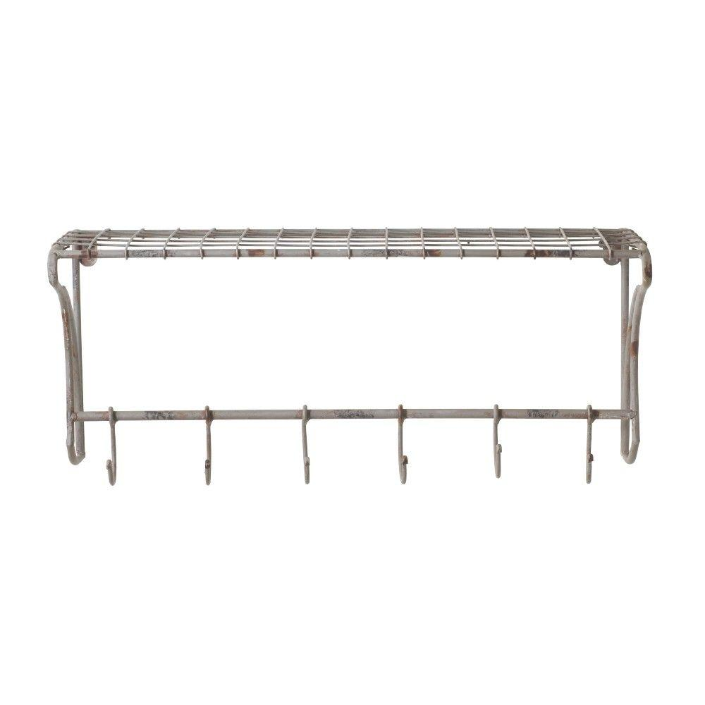 Home Decorators Collection 10 In H X 24 In W Ventilated Gray Wire Wall Shelf 0883100270 The