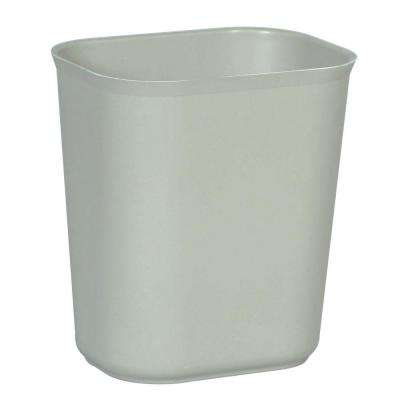 3.5 Gal. Gray Rectangular Fire-Resistant Trash Can