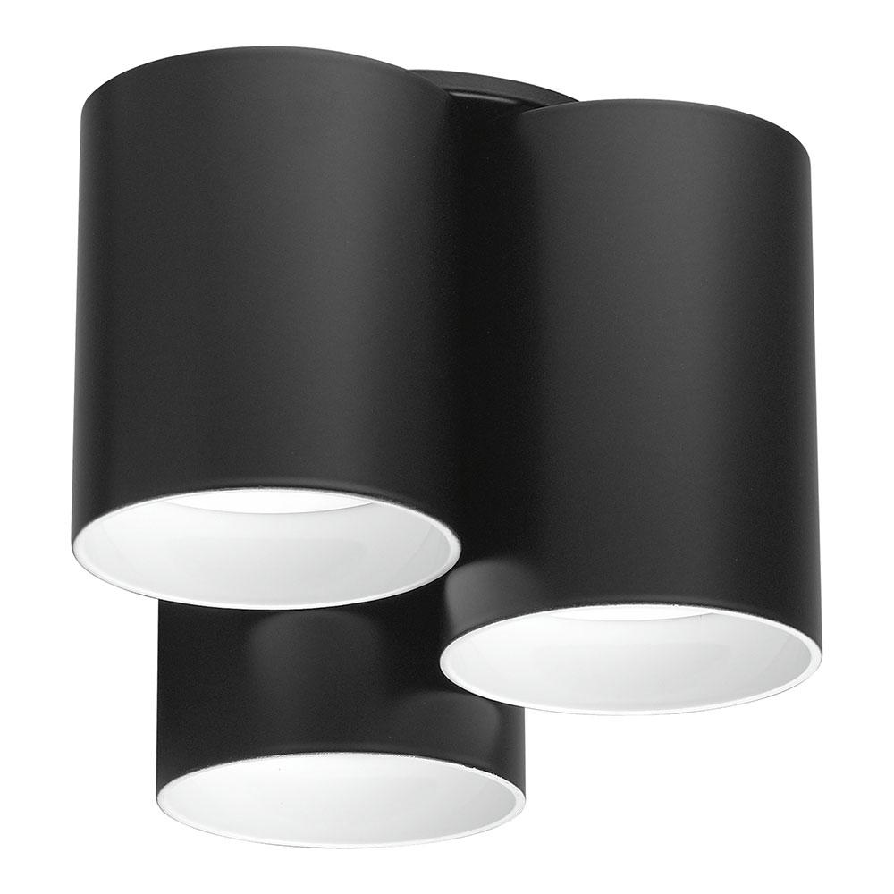Eglo Vistal 3-Light Matte Black LED Ceiling Light