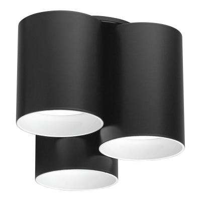 Vistal 3-Light Matte Black LED Ceiling Light