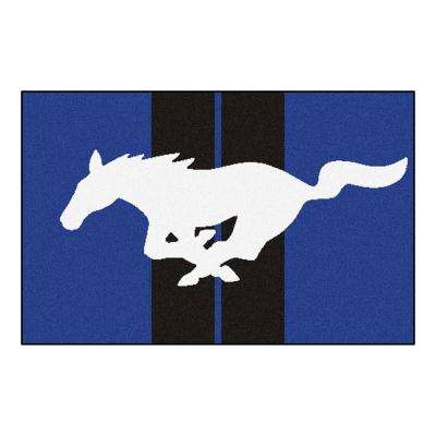 Ford - Mustang Horse Blue 2 ft. x 3 ft. Indoor Area Rug