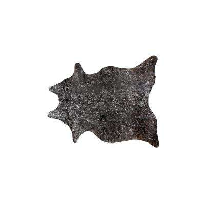 SCOTLAND COWHIDE 5 ft. x 7 ft. CHOCOLATE & SILVER