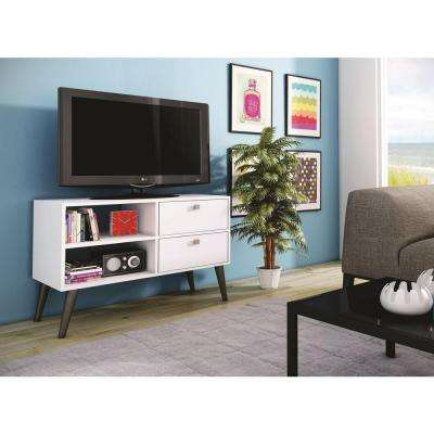 Dalarna White Storage Entertainment Center