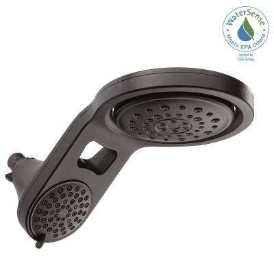 HydroRain 2-in-1 5-Spray 7-7/8 in. Fixed Shower Head in Venetian Bronze
