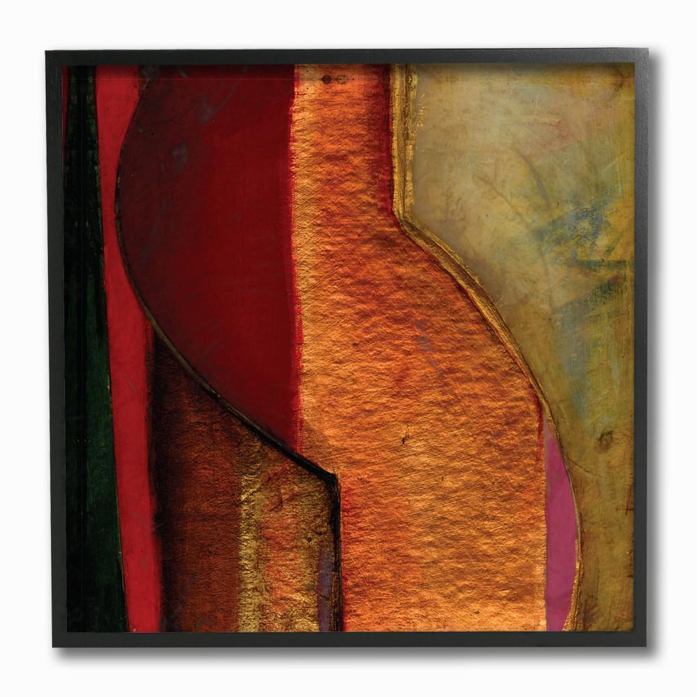 Modern zig zag russet by matthew finger wood framed wall art ccp 199 fr 12x12 the home depot