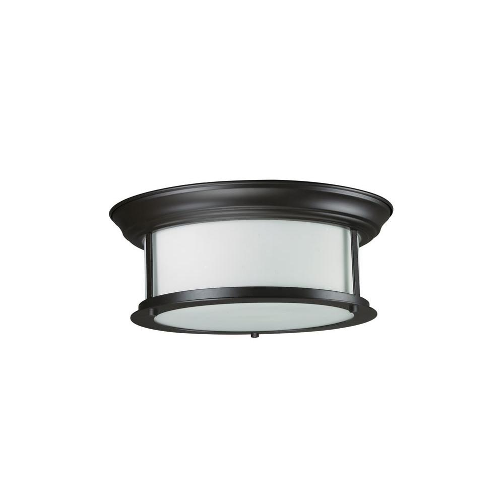 Filament Design Lawrence 2-Light Bronze Incandescent Ceiling Flushmount