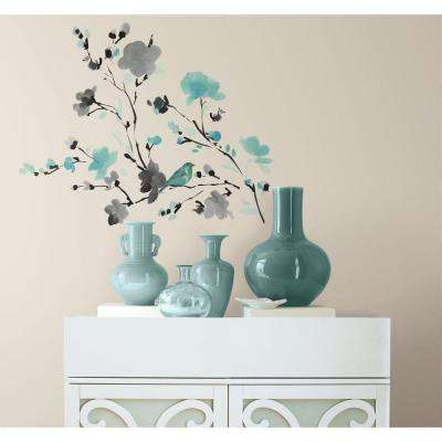 Blossom Watercolor Bird Branch L And Stick Wall Decal