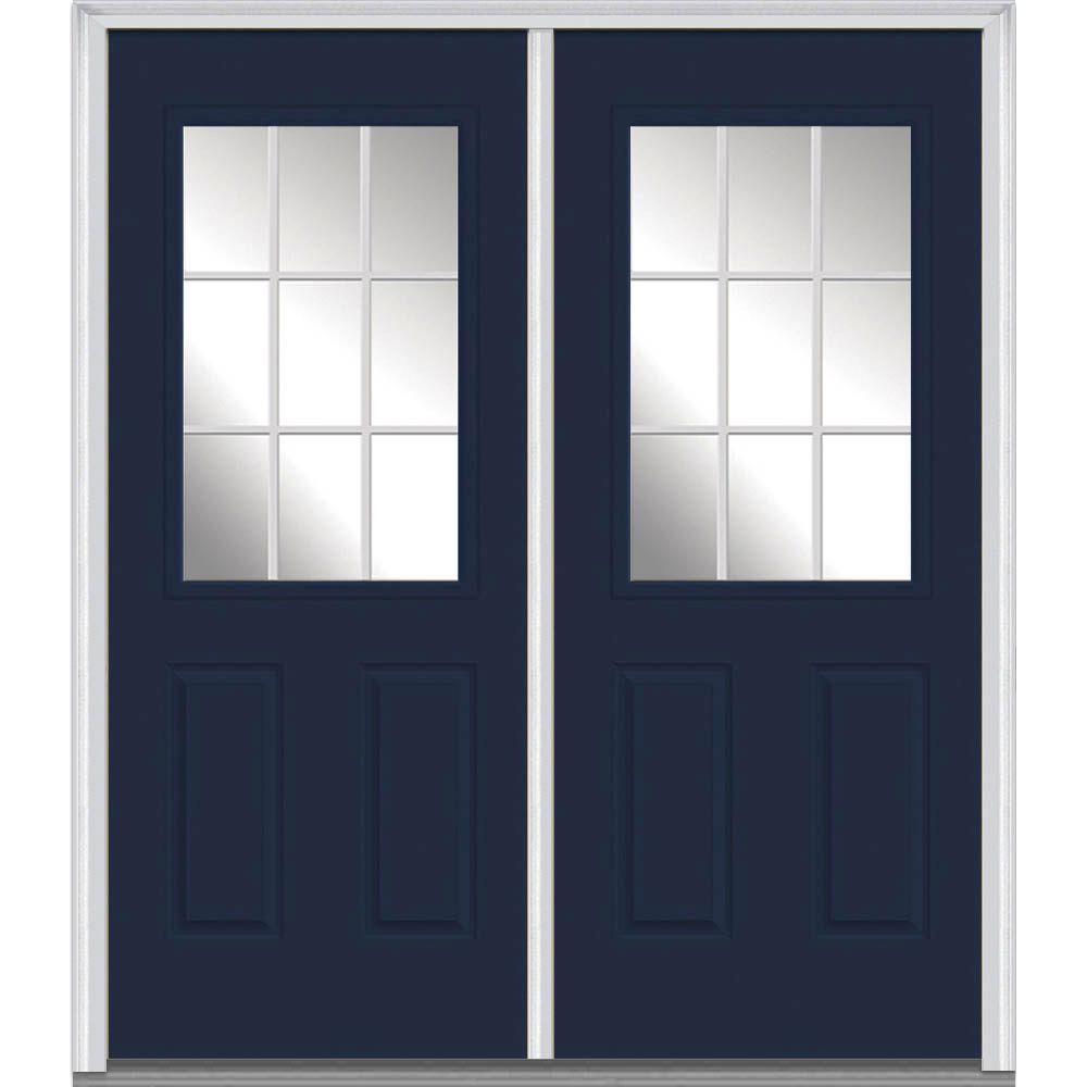 Mmi Door 60 In X 80 In Grilles Between Glass Right Hand