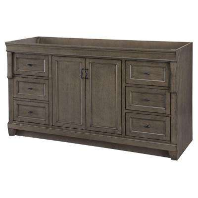 Naples 60 In. W Bath Vanity Cabinet Only In Distressed Grey For Single Bowl