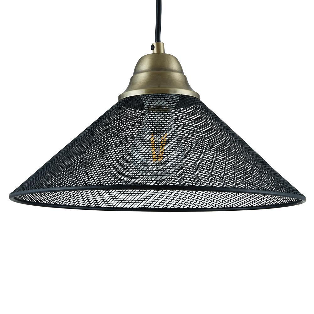 Southern Enterprises Hesta 1-Light Black Downlight Mini Pendant Lamp was $79.99 now $30.01 (62.0% off)