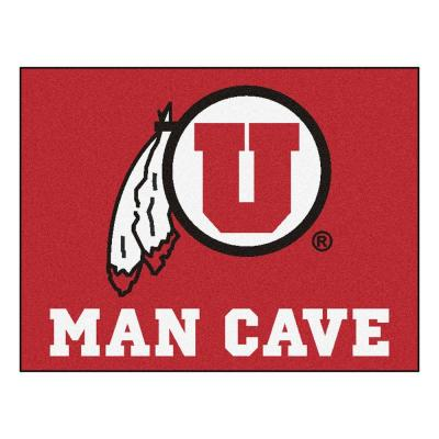 University of Utah Red Man Cave 3 ft. x 4 ft. Area Rug