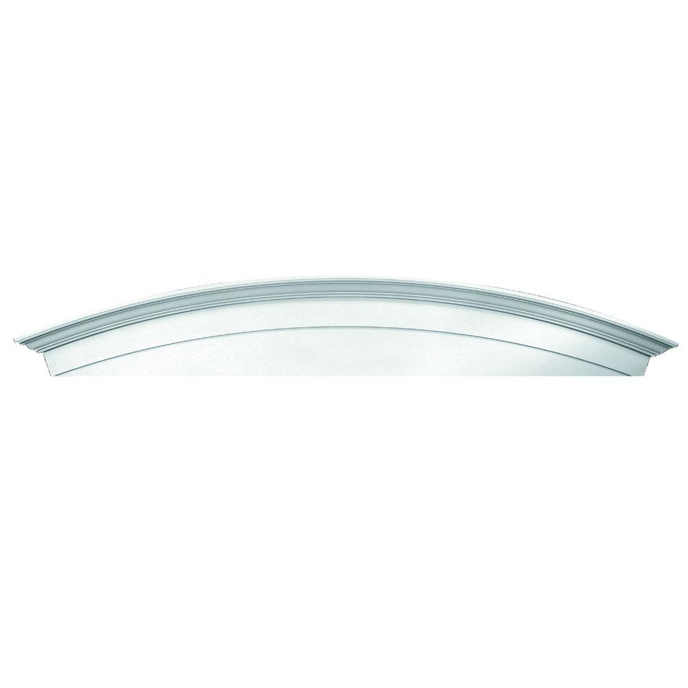 Fypon 72 in. x 13 in. x 4-1/2 in. Polyurethane Window and Door Arch Crosshead with Keystone