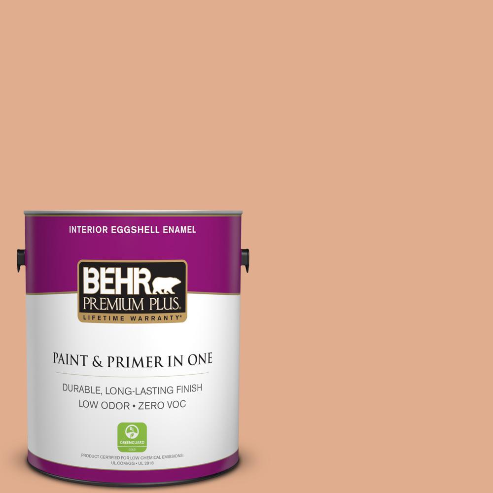 BEHR Premium Plus 1-gal. #PMD-105 Buried Treasure Zero VOC Eggshell Enamel Interior Paint