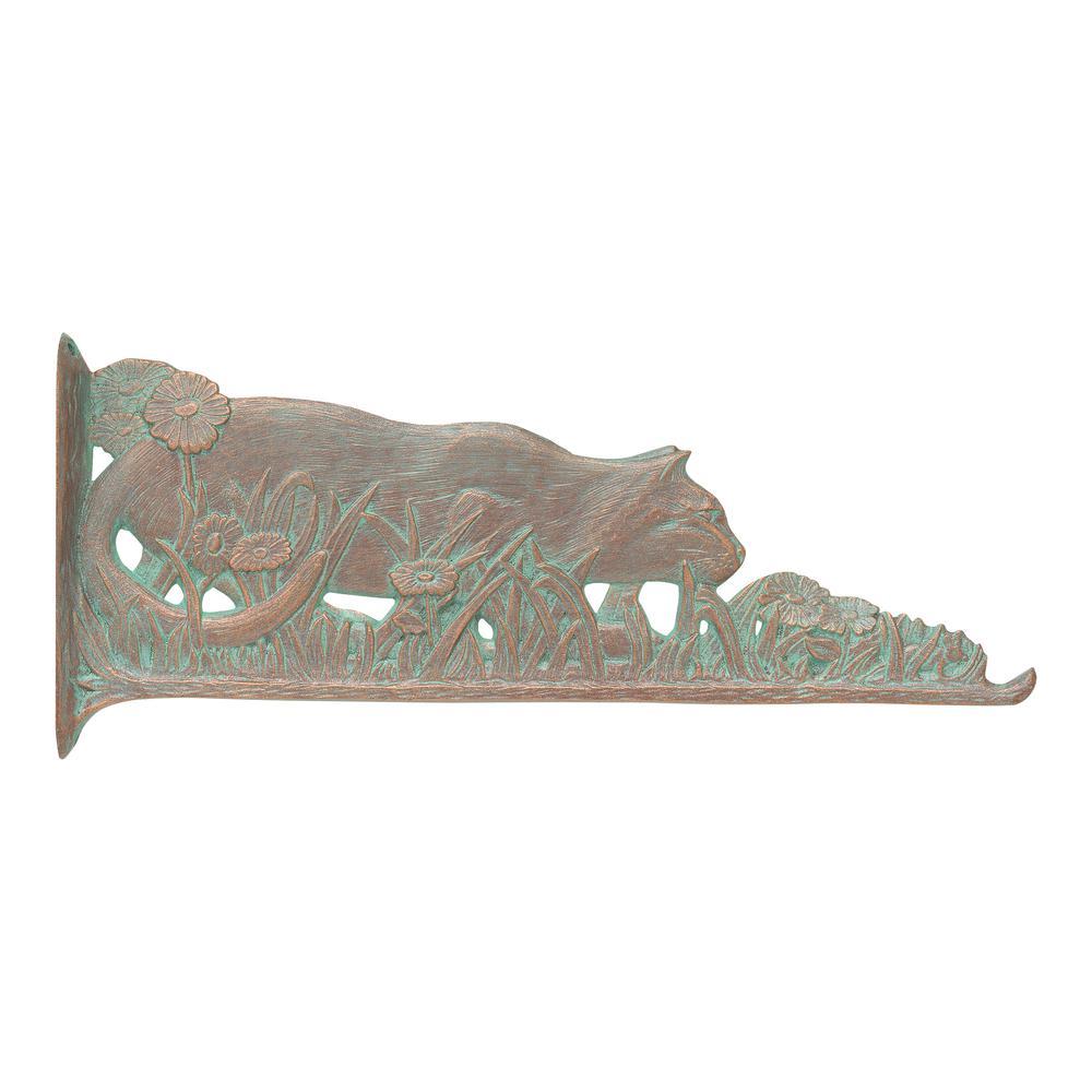 Cat Nature Copper Verdigris Hook