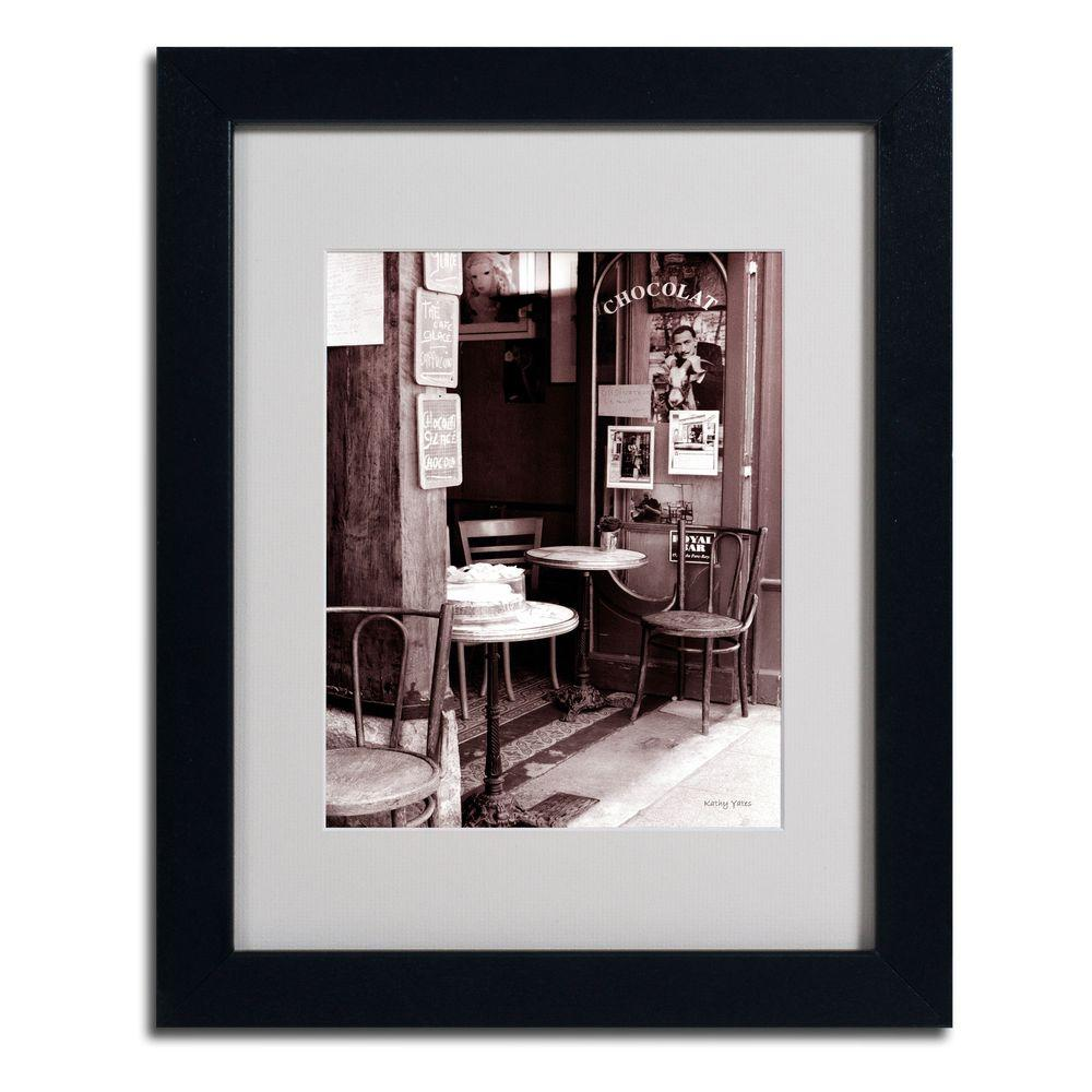 Trademark Fine Art 11 in. x 14 in. Paris Cafe Matted Framed Art