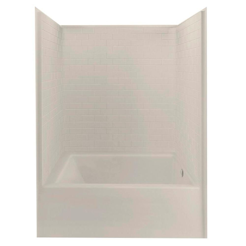 Everyday 60 in. x 42 in. x 80 in. 1-Piece Bath