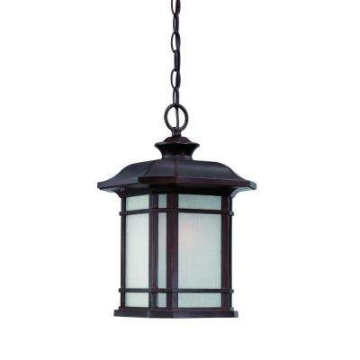 Somerset Collection 1-Light Architectural Bronze Outdoor Hanging Light Fixture