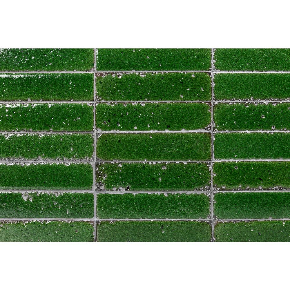 Ivy Hill Tile Magma Stone Green Brick 3 in. x 12 in. 19mm Glazed Subway Tile (4.11 sq. ft. / box, 17 pieces per set)