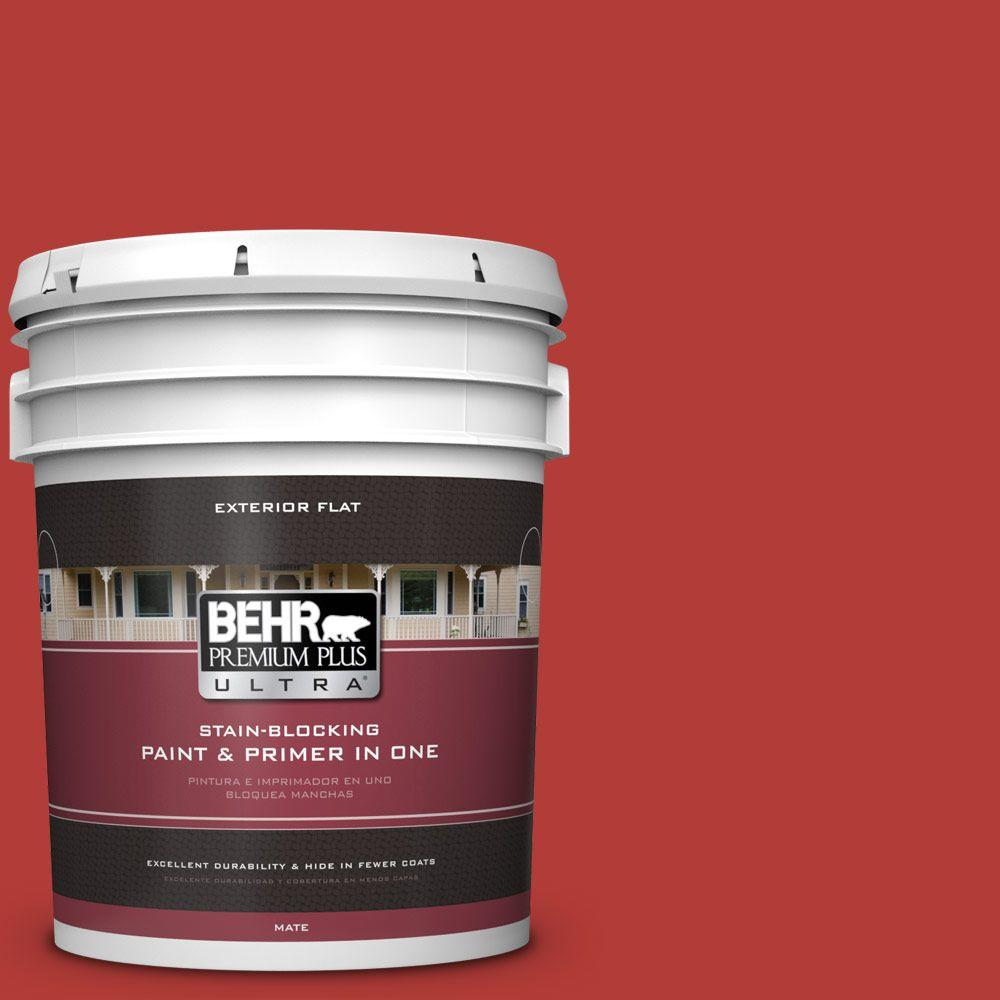 5-gal. #170B-7 Red Tomato Flat Exterior Paint