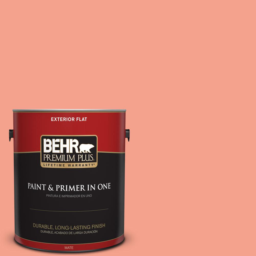 BEHR Premium Plus Home Decorators Collection 1-gal. #HDC-MD-18 Peach Mimosa Flat Exterior Paint