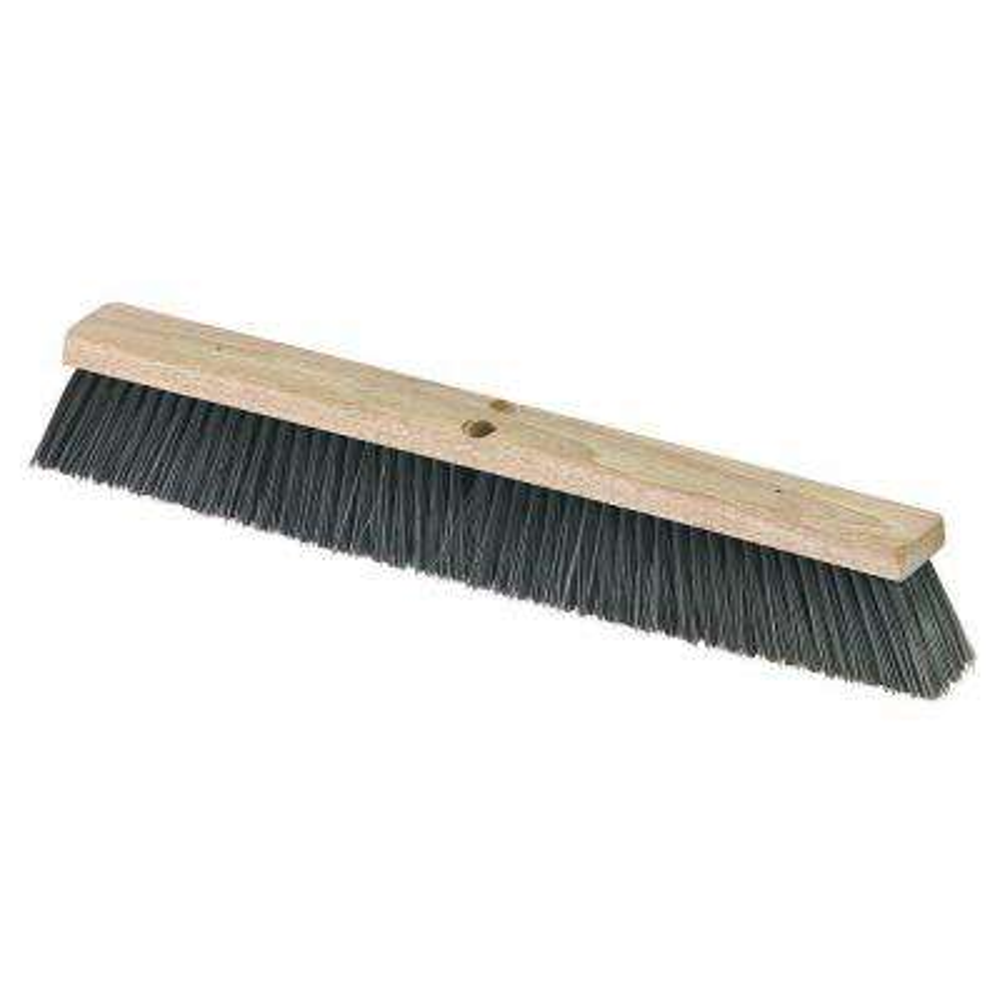 24 in. Medium Polypropylene Floor Sweep with Heavy Polypropylene Center (Case of 12)