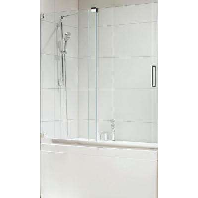 Oasis Premium 60 in. x 58 in. Semi-Framed Sliding Shower Door in Chrome with Tempered Clear Glass