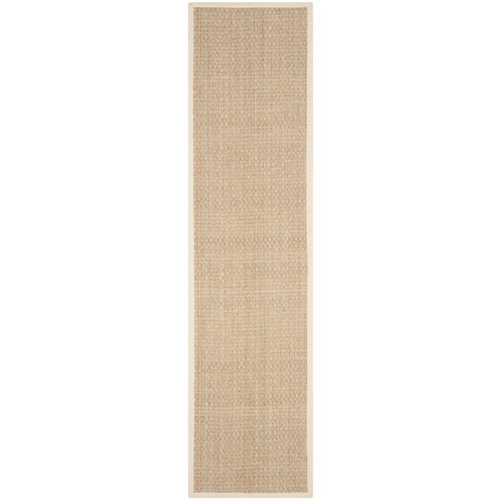 Natural Fiber Beige/Ivory 2 ft. 6 in. x 14 ft. Runner